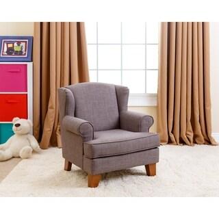 Abbyson Kids Lorraine Wingback Grey Mini Chair