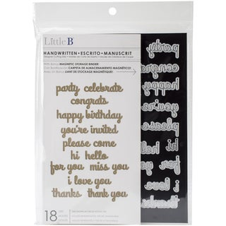 Little B Cutting DieHandwritten, 18/Pkg, .5in2.25in