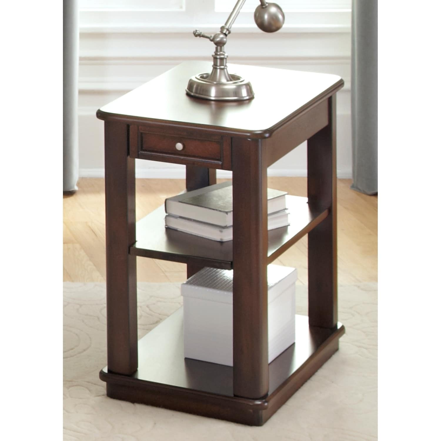 Liberty Wallace Dark Toffee Chair Side Table (Dark Toffee...
