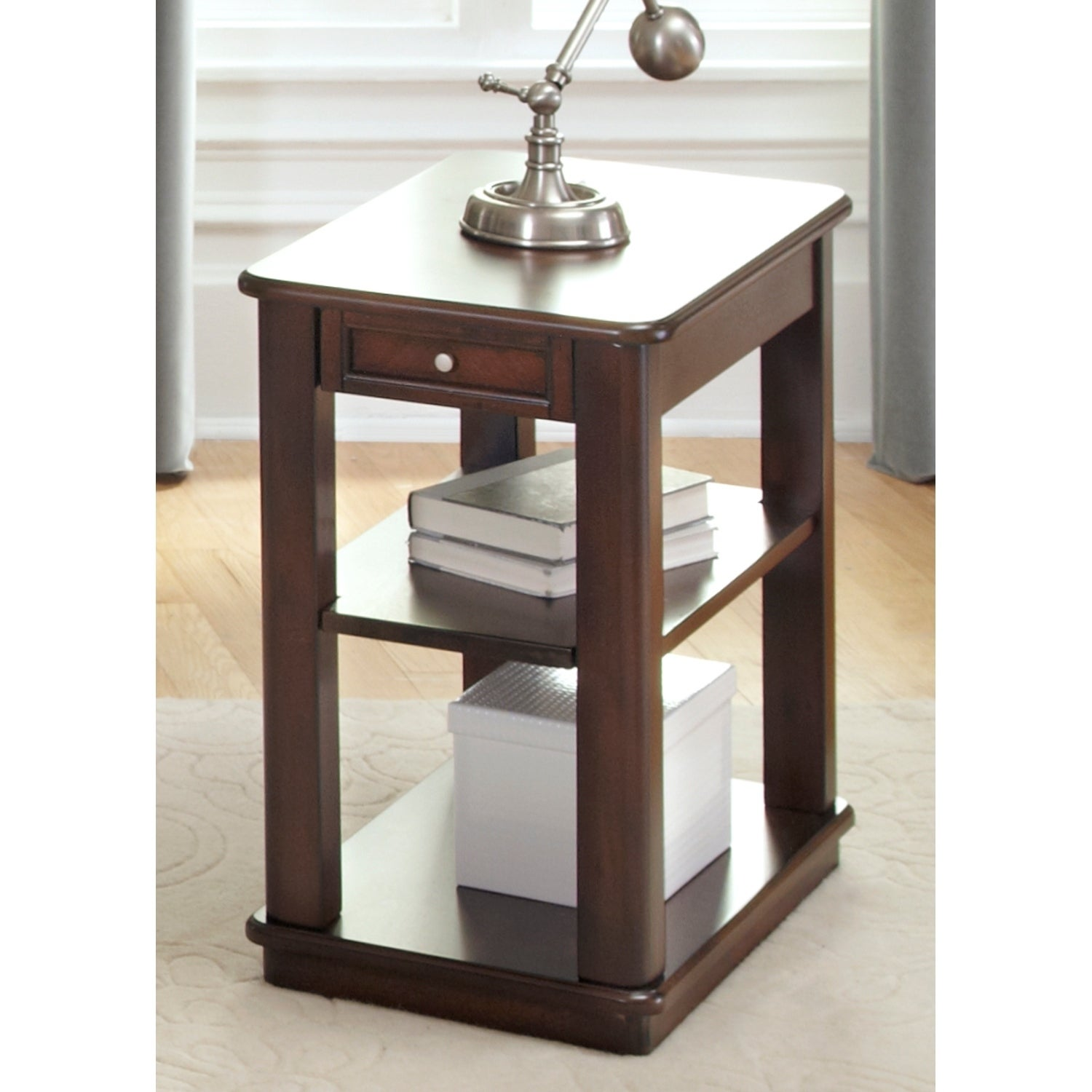 Shop Wallace Dark Toffee Chair Side Table On Sale Free