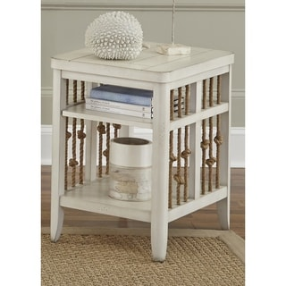 Dockside II White Weaved Rope Chair Side Table