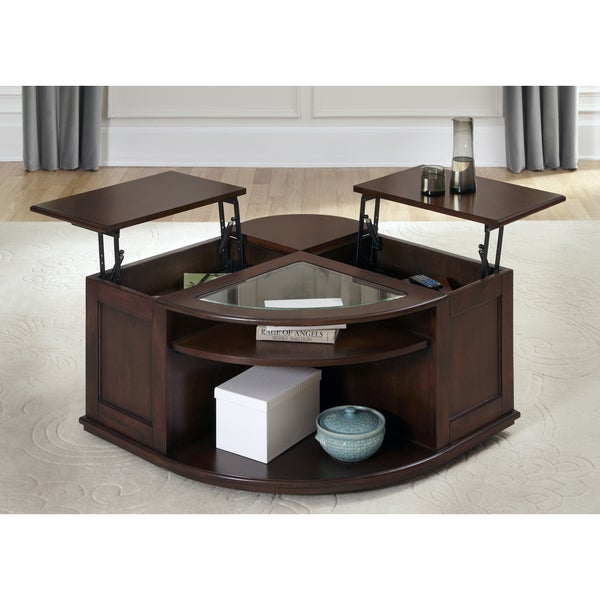 Wallace Dark Toffee Lift Top Cocktail Table Free