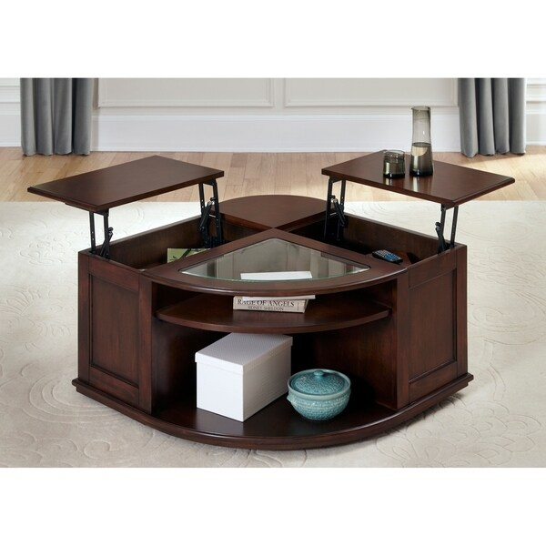 Superieur Wallace Dark Toffee Lift Top Cocktail Table
