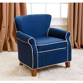 Abbyson Kids Sylvia Navy Blue Chair