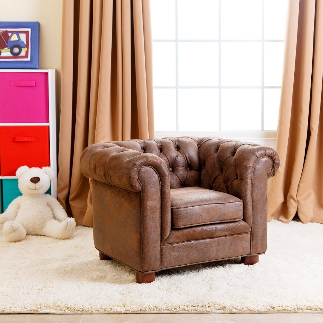 Abbyson Kids Antique Brown Velvet