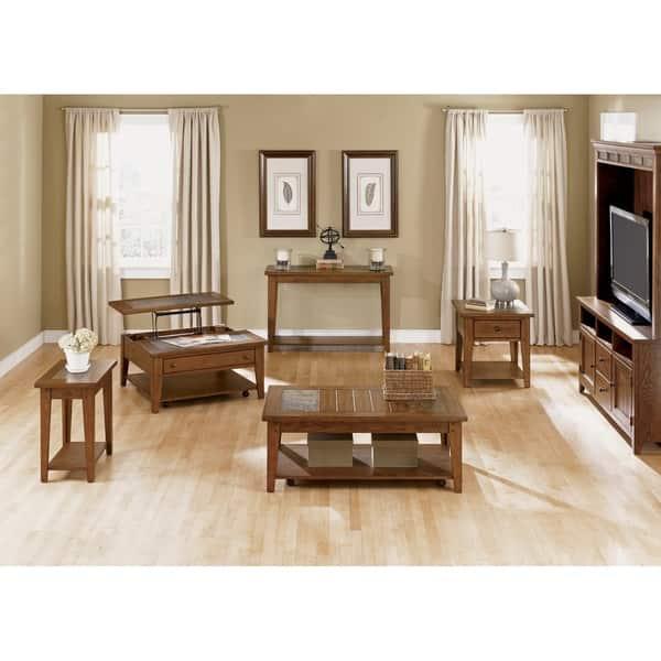 Shop Black Friday Deals On Hearthstone Rustic Oak End Table Overstock 10562566