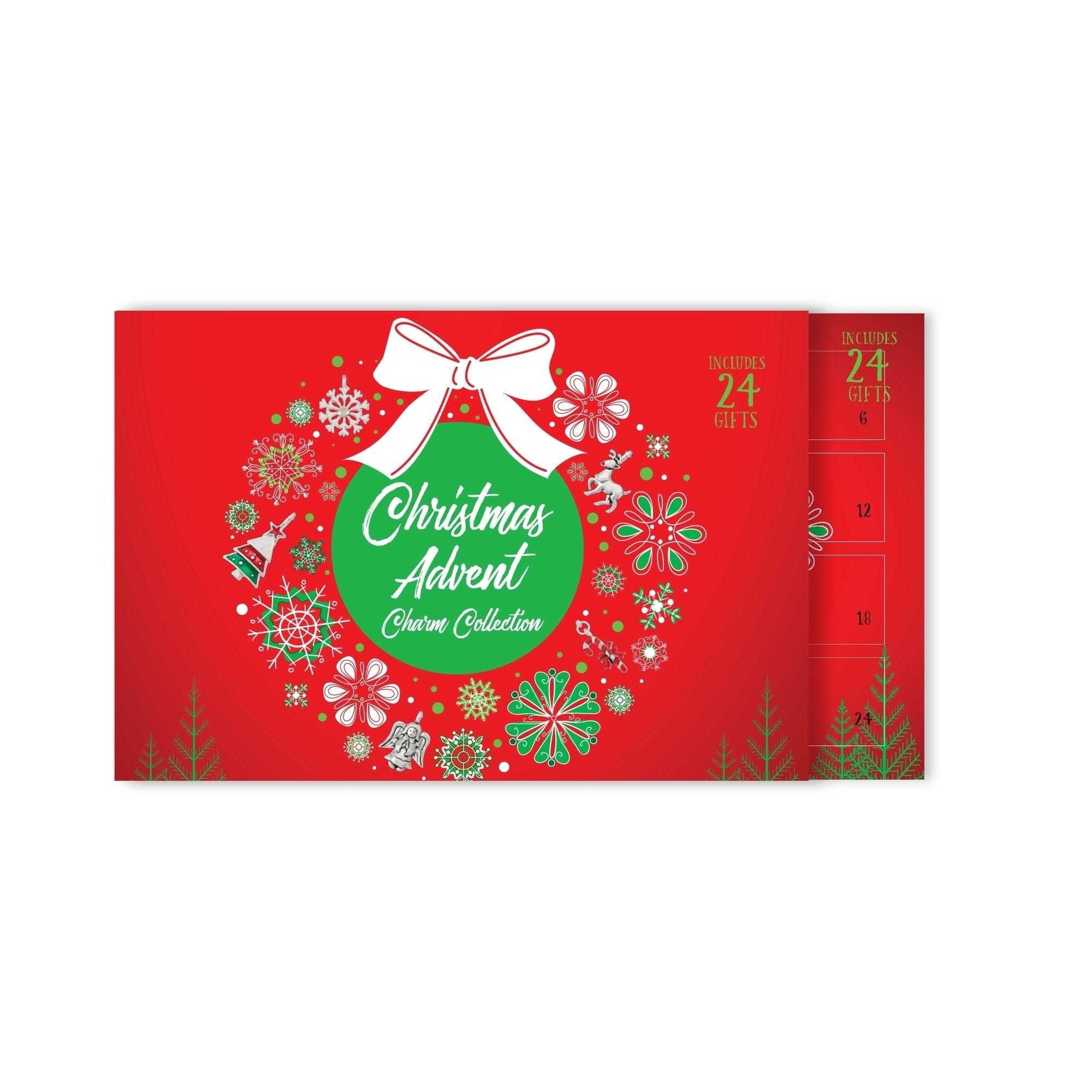 24 Silber Charms 2x Bettelarmband 26Teile Weihnachten Charm Adventskalender