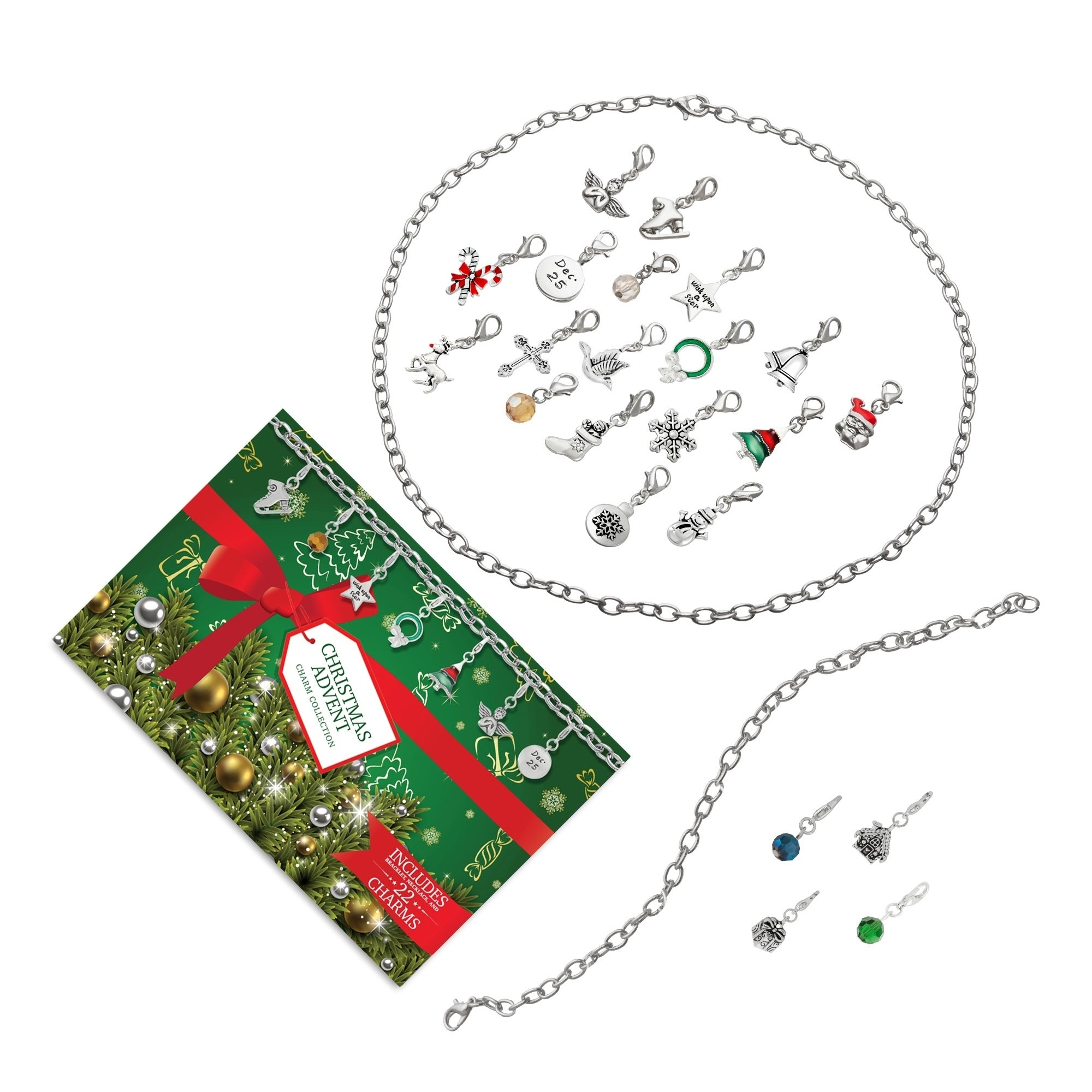 Isla Simone Christmas Advent Calendar Charm Jewelry Gift ...