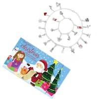 Christmas Advent Calendar Charm Jewelry Gift Set