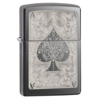 Zippo Ace Filigree Black Ice Lighter