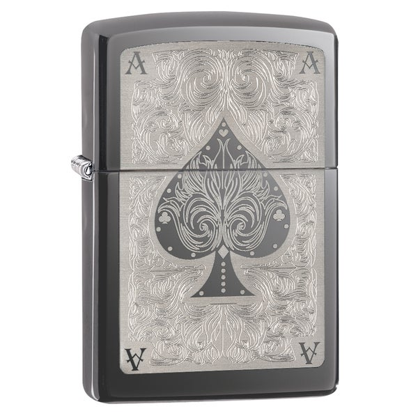 Zippo Ace Filigree Black Ice Lighter