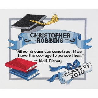 Graduation Dreams Counted Cross Stitch Kit13inX10in 14 Count