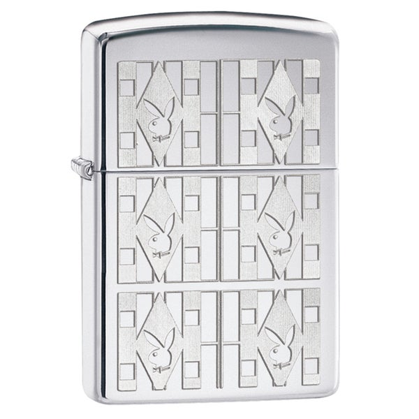 Zippo Playboy Triangles High Polish Chrome Windproof Lighter