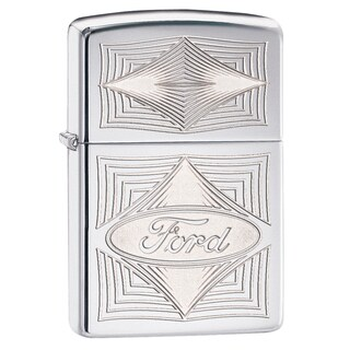 Zippo Ford High Polish Chrome Windproof Lighter