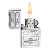 Zippo Bottom Stamp Timeline High Polish Chrome Lighter