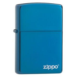 Zippo Sapphire Lighter with Logo