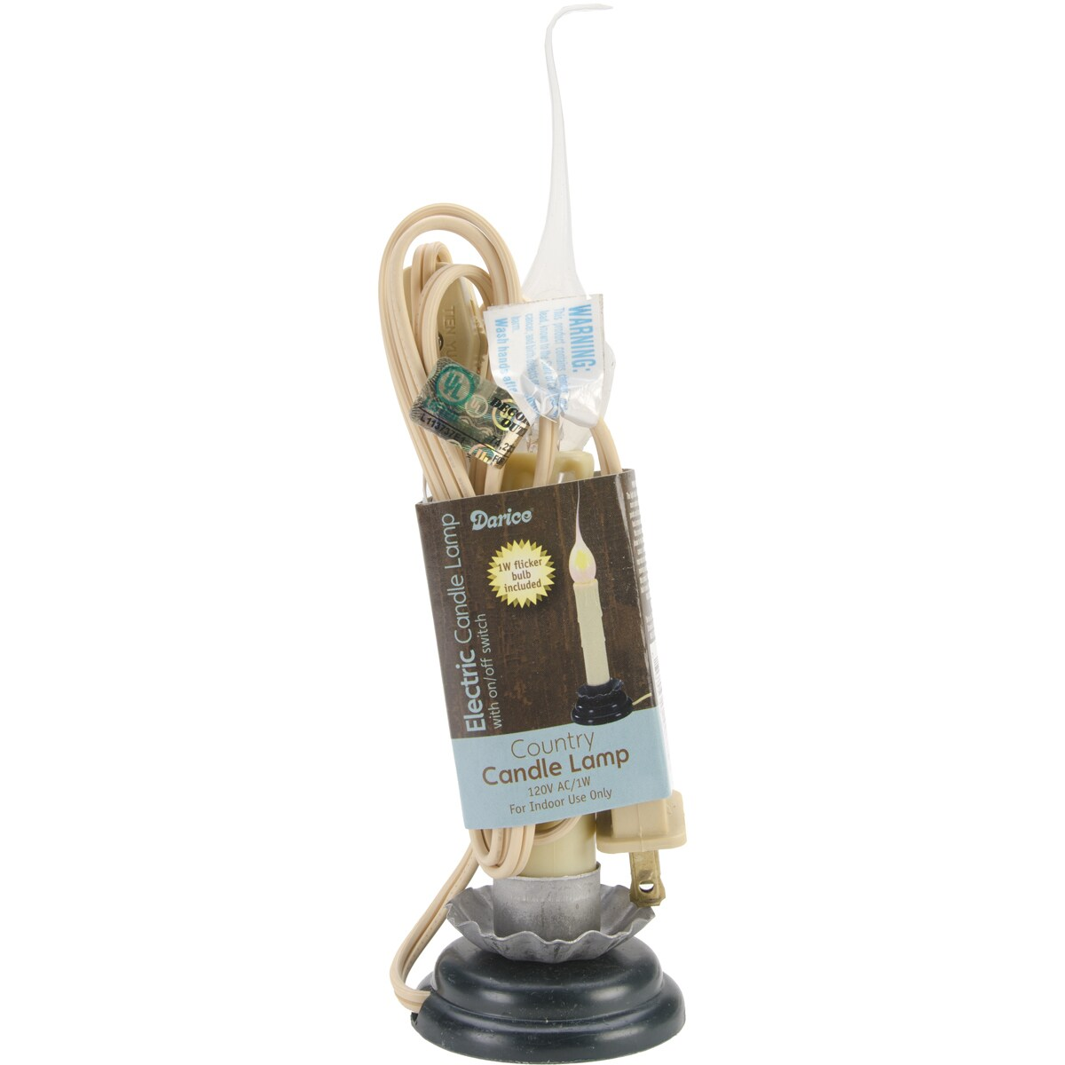 DARICE Electric Country Candle Flickering Lamp6in (6in), ...