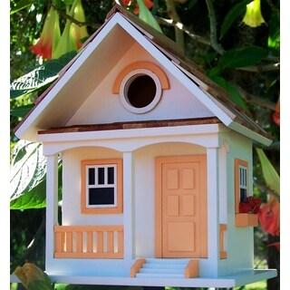 Peaches N' Cream Cottage Birdhouse