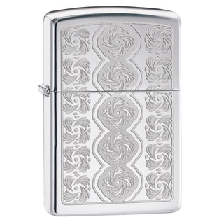 Zippo Swirled Circles High Polish Chrome Windproof Lighter