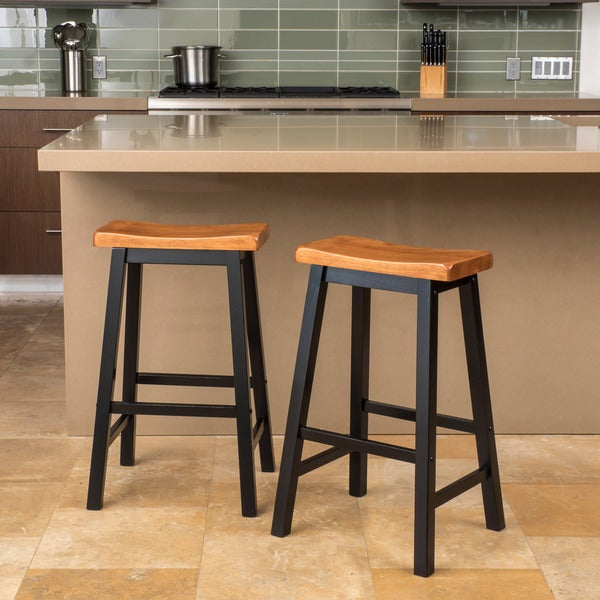 pomeroy 29inch saddle wood barstool set of 2 by christopher knight home