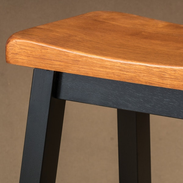 Pomeroy 29 Inch Saddle Wood Barstool (Set Of 2) By Christopher Knight Home    Free Shipping Today   Overstock.com   17640804