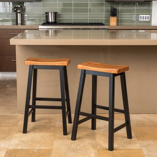 Pomeroy 29-inch Saddle Wood Barstool (Set of 2) by Christopher Knight Home