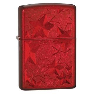 Zippo Stars Candy Apple Red Lighter