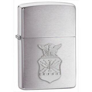 Zippo Air Force Crest Emblem Brushed Chrome Lighter