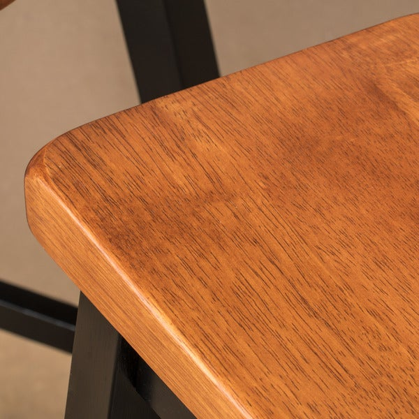 Pomeroy 24 Inch Saddle Wood Counter Stool (Set Of 2) By Christopher Knight  Home   Free Shipping Today   Overstock.com   17640805