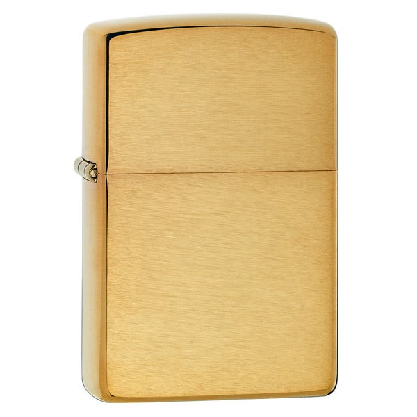 Zippo Brushed Finish Brass Armor Heavy Wall Lighter