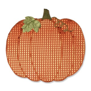 Pillow Perfect Pumpkin Sequin Orange Placemat (Set of 2)