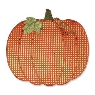 Pillow Perfect Pumpkin Sequin Orange Placemat (Set of 2)