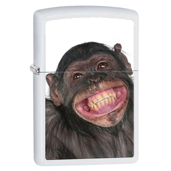 Zippo Monkey Crown White Matte Windproof Lighter