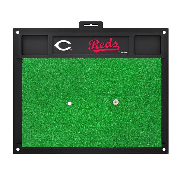 Fanmats Cincinnati Reds Green Rubber Golf Hitting Mat