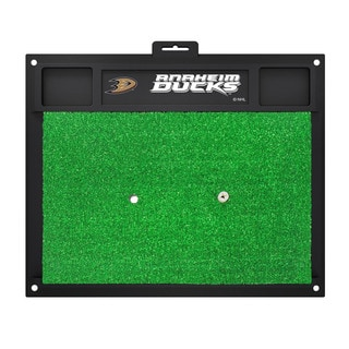 Fanmats Anaheim Ducks Green Rubber Golf Hitting Mat