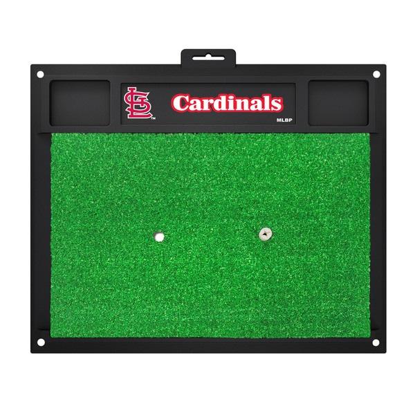 Fanmats St. Louis Cardinals Green Rubber Golf Hitting Mat