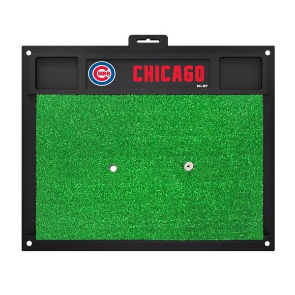 Fanmats Chicago Cubs Green Rubber Golf Hitting Mat