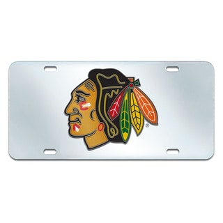 Fanmats Chicago Blackhawks Acrylic Inlaid License Plate