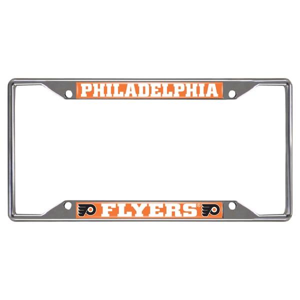 Fanmats Philadelphia Flyers Chrome Metal License Plate Frame
