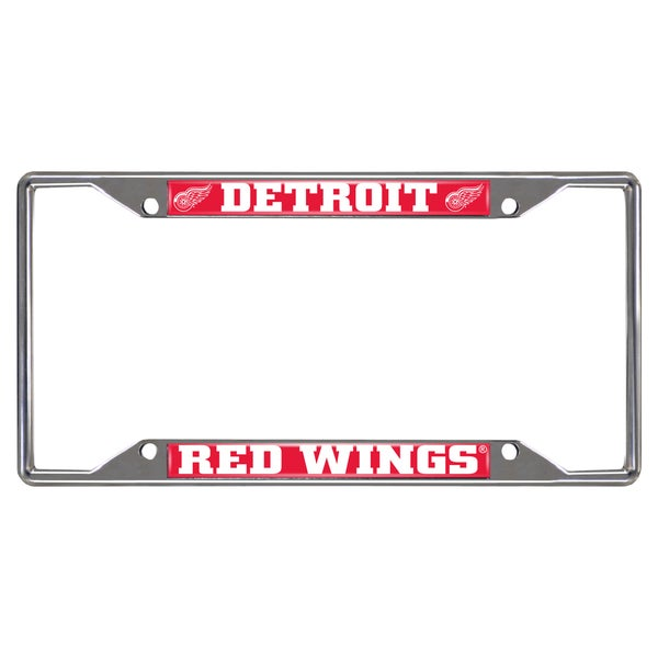 Fanmats Detroit Red Wings Chrome Metal License Plate Frame