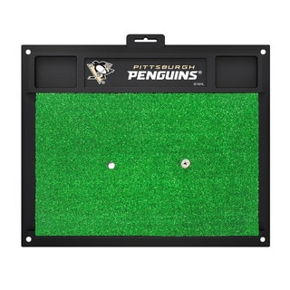 Fanmats Pittsburgh Penguins Green Rubber Golf Hitting Mat