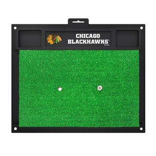 Fanmats Chicago Blackhawks Green Rubber Golf Hitting Mat