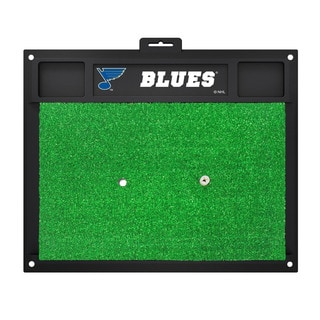 Fanmats St Louis Blues Green Rubber Golf Hitting Mat