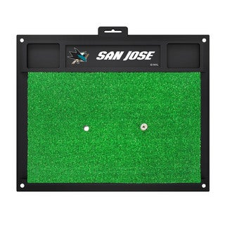 Fanmats San Jose Sharks Green Rubber Golf Hitting Mat