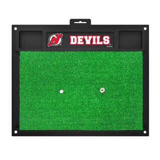 Fanmats New Jersey Devils Green Rubber Golf Hitting Mat