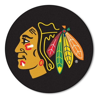 Fanmats Chicago Blackhawks Black Nylon Puck Mat