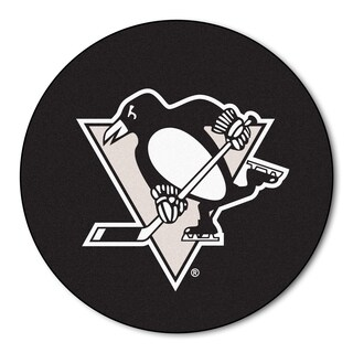 Fanmats Pittsburgh Pengins Black Nylon Puck Mat