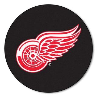 Fanmats Detroit Red Wings Black Nylon Puck Mat