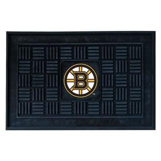 Fanmats Boston Bruins Black Vinyl Medallion Door Mat