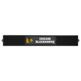Fanmats Chicago Blackhawks Black Rubber Drink Mat